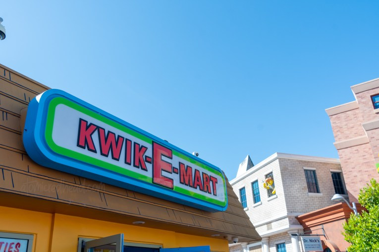 Exterior of the Kwik-E-Mart.