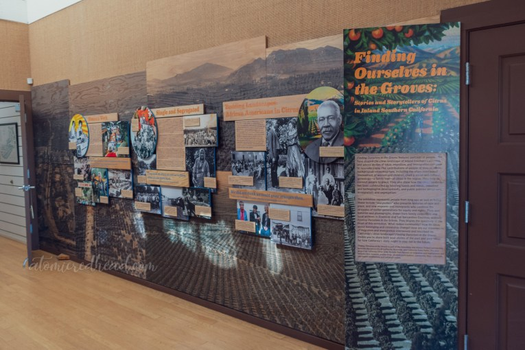 Display highlighting the people of color who worked in the citrus industry.