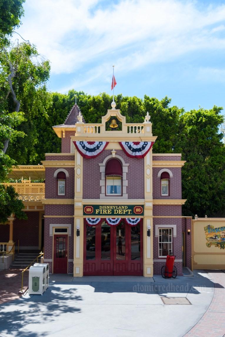The elegant brick Main Street Fire Station.