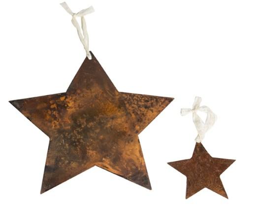 Estrella de chapa grande Estrella chica