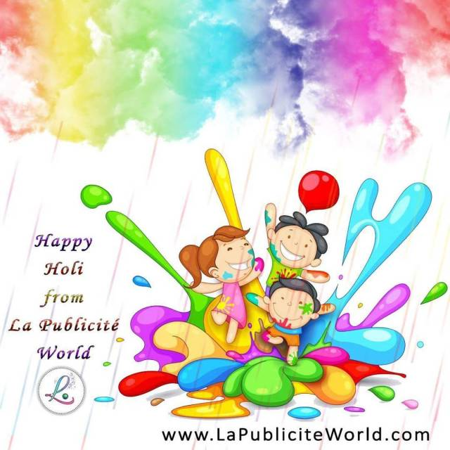 Lapubliciteworldcom wishes you a very HappyHoli! Holi ColoursOfHoli Holi colourshellip