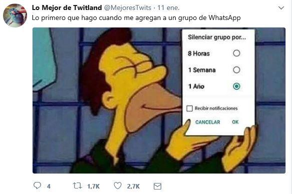 Silenciar grupo de WhatsApp