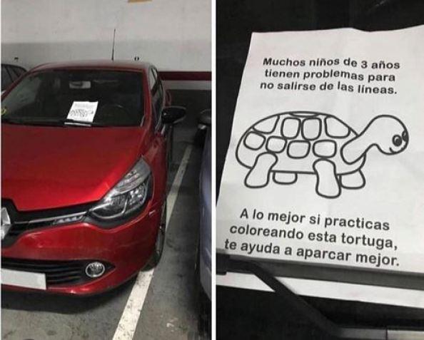 Coloreando esta tortuga aparcarás mejor