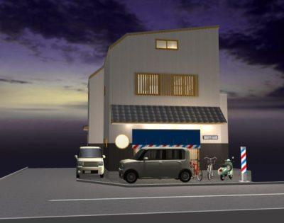 間取り成功例31坪  理容室・美容室店舗兼用住宅 昭和レトロな「ほっこり床屋」