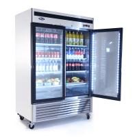 MCF8707 Bottom Mount (2) Two Glass Door Refrigerator ...