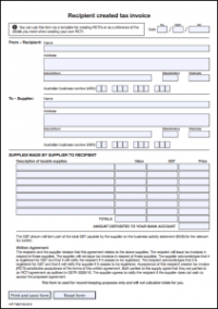 Recipient Created Tax Invoice - atotaxrates.info