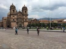 Plaza de armas in Cuzco.