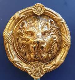 lion head large door knocker touch ironmongery chelsea architectural ironmongery london [ 1073 x 1105 Pixel ]