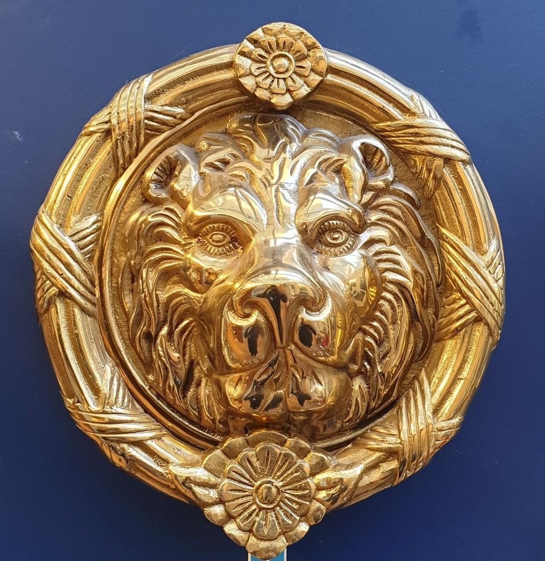 hight resolution of lion head large door knocker touch ironmongery chelsea architectural ironmongery london