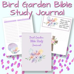 Bird Garden Bible Study Journal