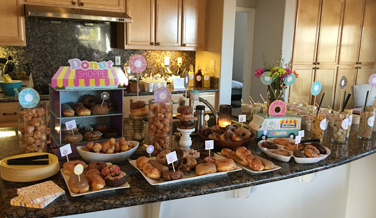 Donuts and Pajamas Party Ideas