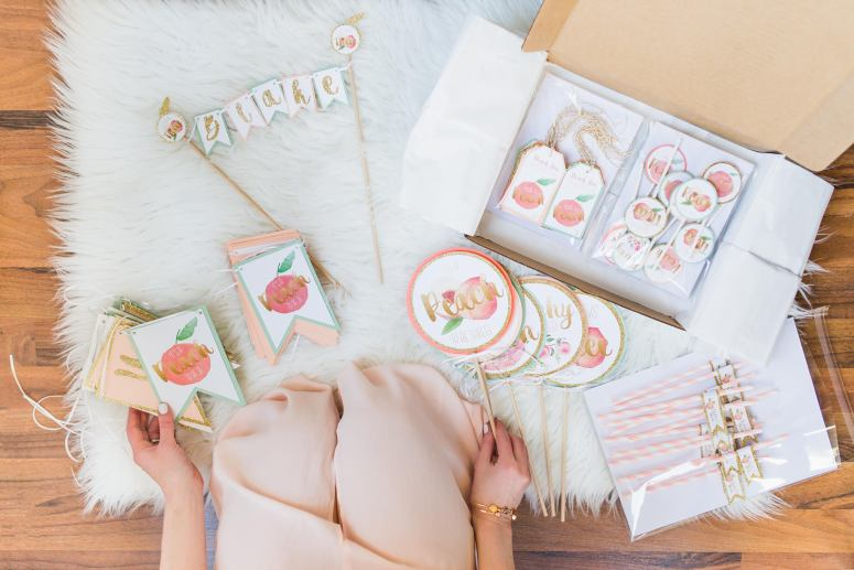 Peach Party Decorations