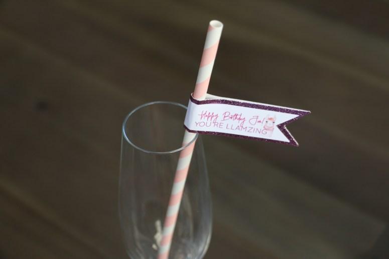 Happy Birthday Custom Straws