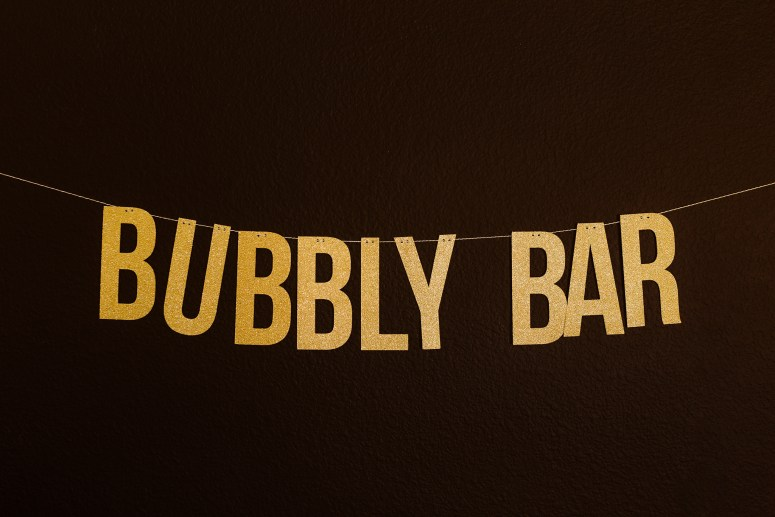 Bubbly Bar Gold Banner