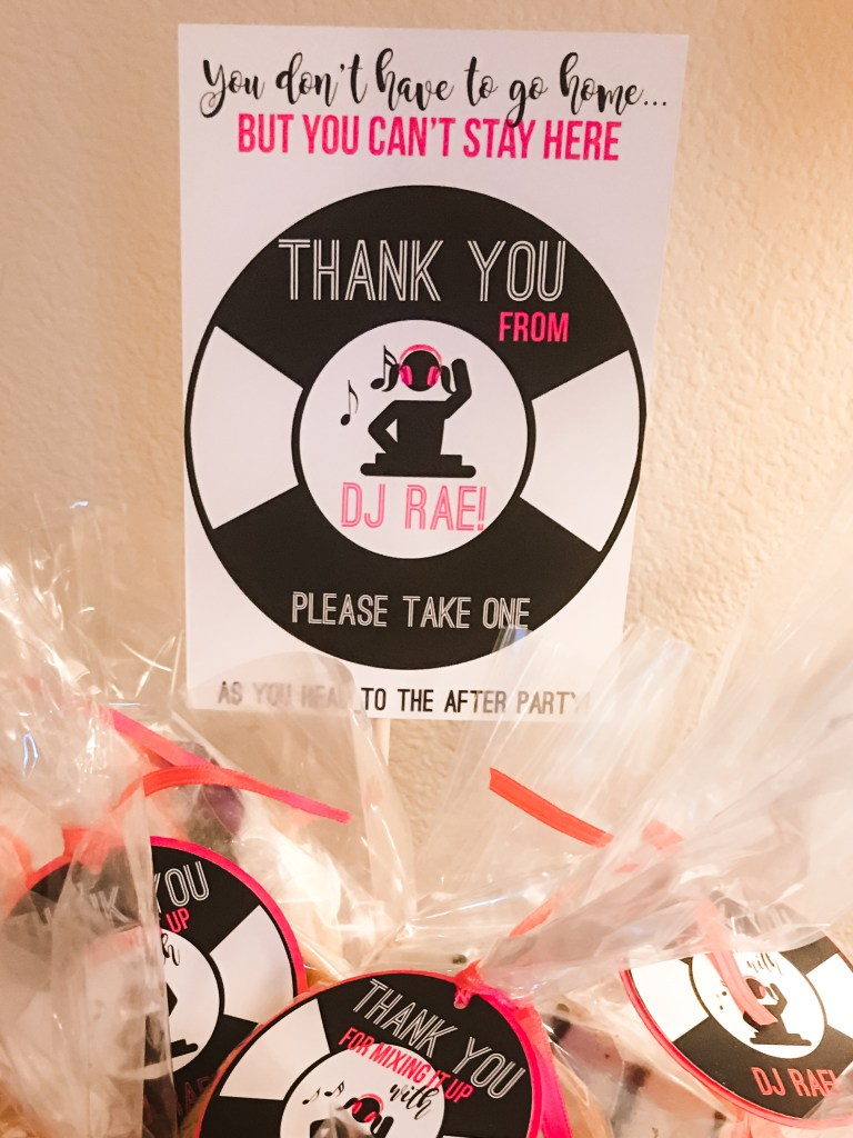 DJ Theme Party Decorations: Music Party Favor Table