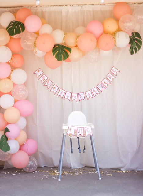 Flamingo and Pineapple Party Decorations