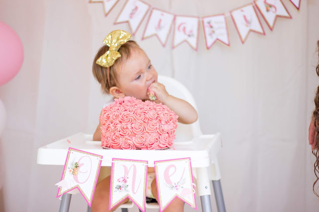 Flamingo and Pineapple Party High Chair Banner