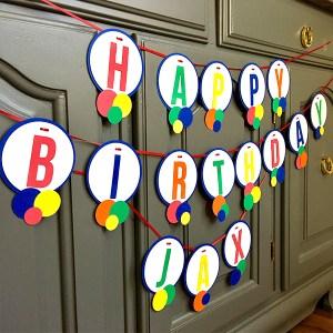 Happy Birthday Name Banner 1