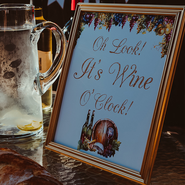 Wine Tasting Party Sign