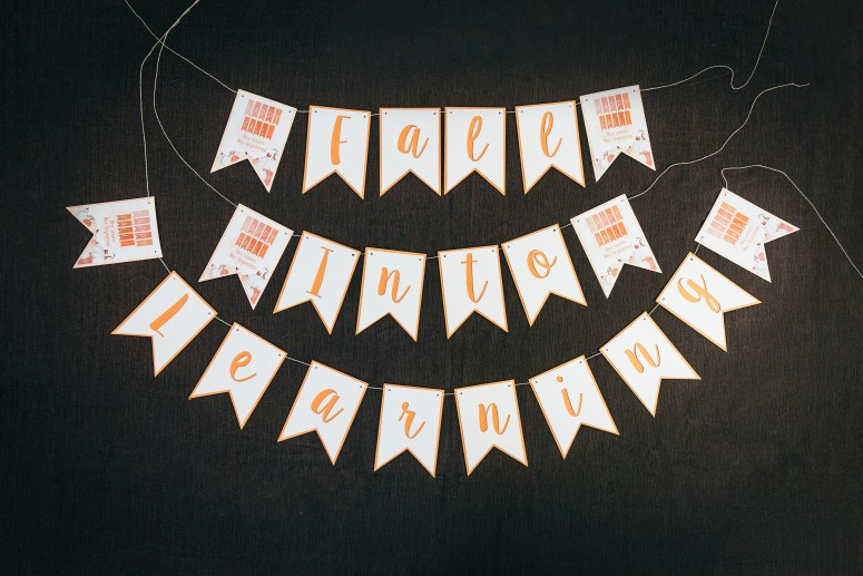 Fall Into Learning Class Party Banner