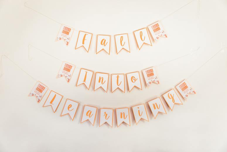 Fall Into Learning Classroom Party Banner