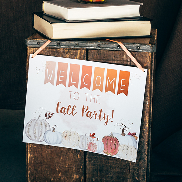 Fall Party Welcome Sign