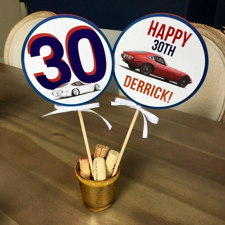 Toyota Party Centerpiece Sticks
