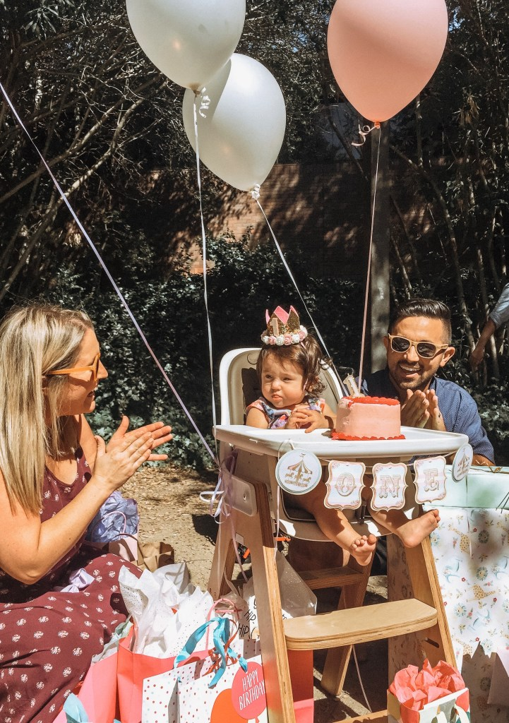 Carousel First Birthday Party High Chair Banner