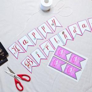 Time Flies Travel Theme Happy Birthday Banner