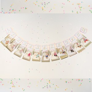 1st birthday picture banner carousel party