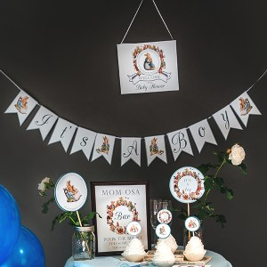 """It's A Boy"" Peter Rabbit Banner"