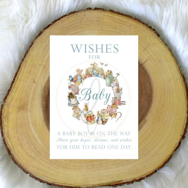 Peter Rabbit Wishes For Baby Sign