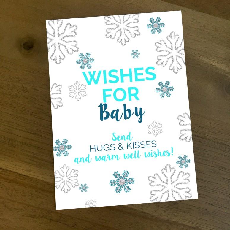 Wishes for Baby Winter Wonderland Baby Shower Game