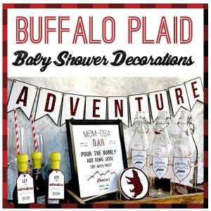 Buffalo Plaid Baby Shower Decorations