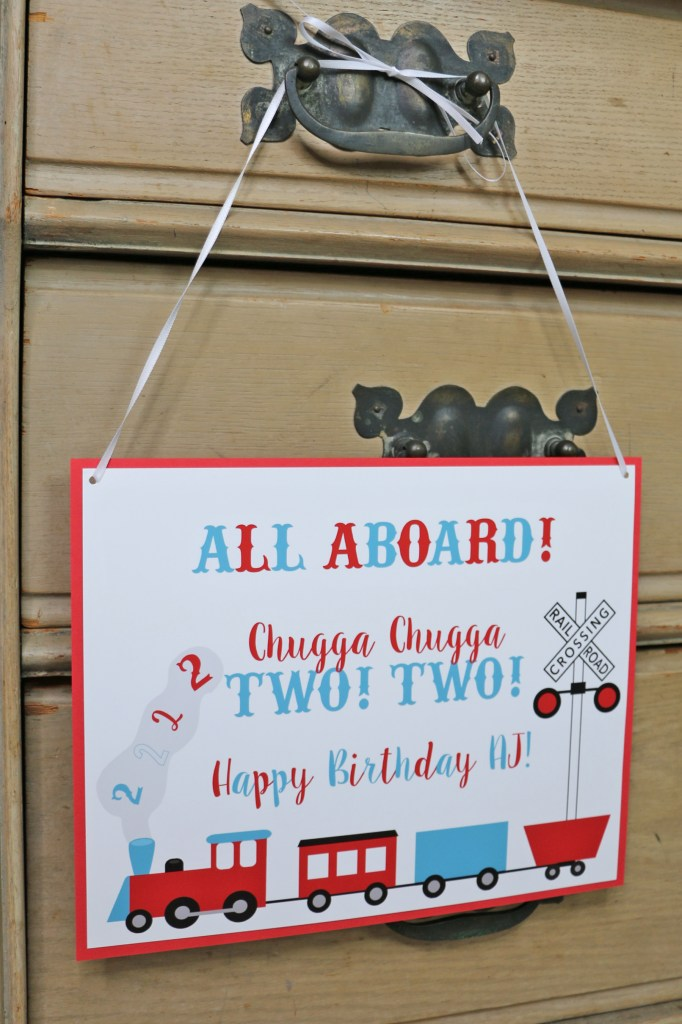 All Aboard: Train Party Welcome Sign for Choo Choo Party