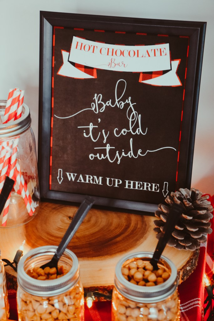 Baby It's Cold Outside Sign for Hot Chocolate Bar