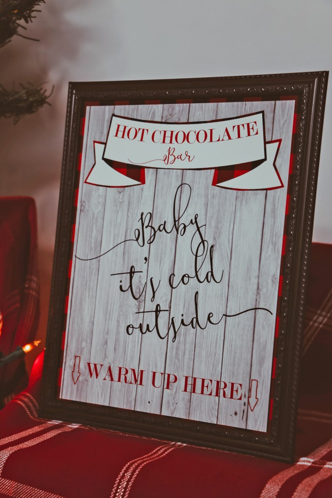 Hot Cocoa Bar Sign: Baby It's Cold Outside