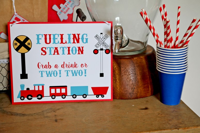 Fueling Station Sign for Train Party