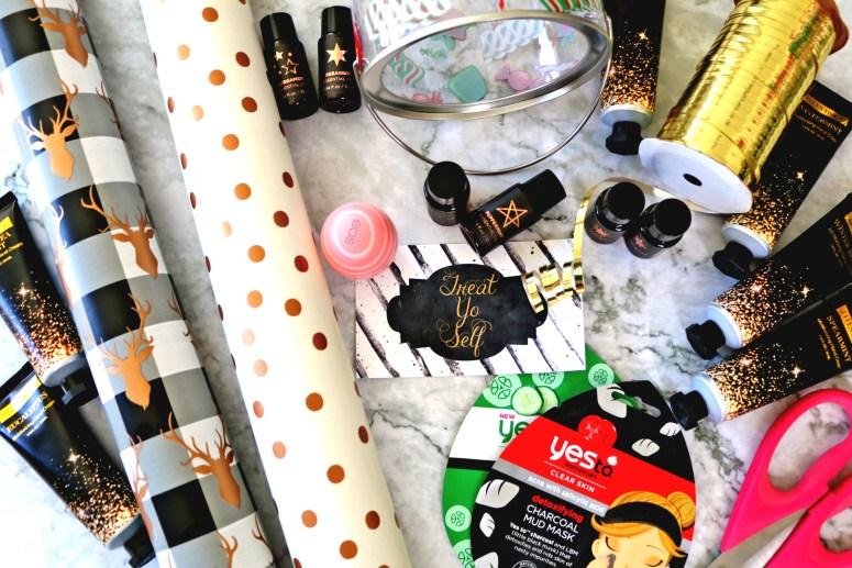 Treat Yo Self Gift Jar Flay Lay: Easy DIY Christmas Gifts