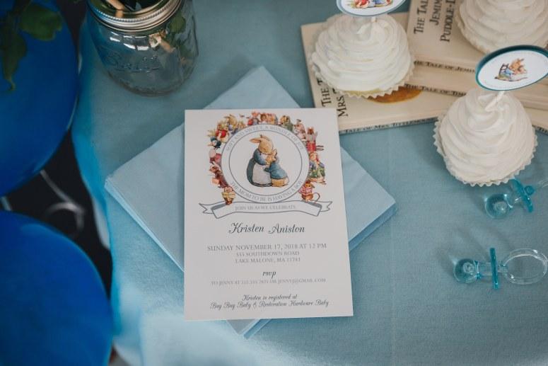 Beatrix Potter Shower Invitations