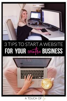 3 Tips To Start a Website for Your Creative Business