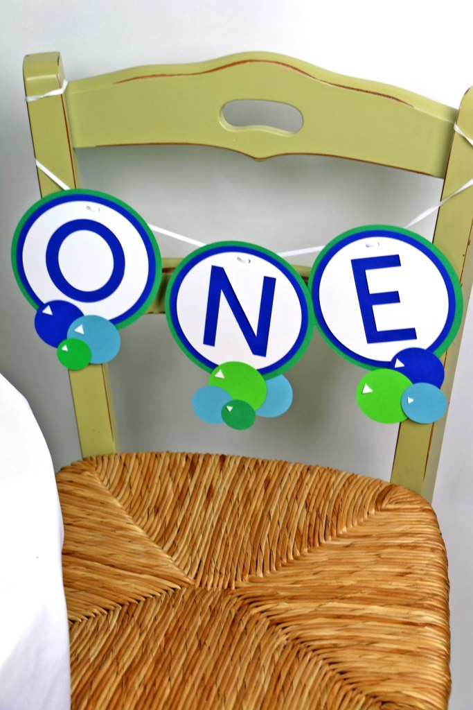 ball party decorations: High Chair Banner