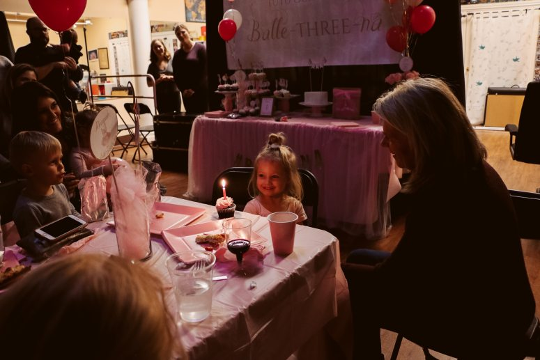 Ballerina Birthday Party Cupcakes