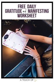 Free gratitude and manifesting worksheet