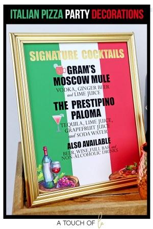 Italian Pizza Party Decorations