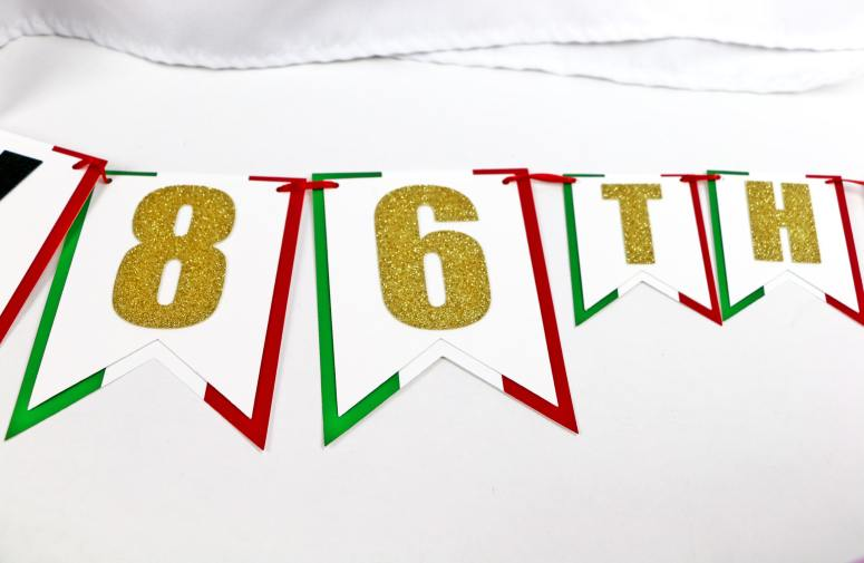 86th Birthday Party Banner