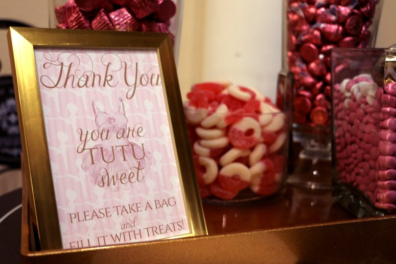 Thank You Candy Bar Station for Ballerina Party
