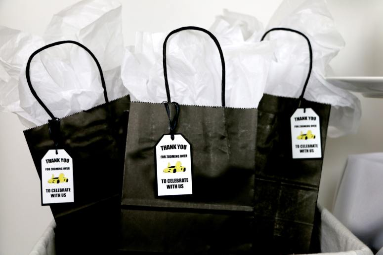 black and yellow Lamborghini Birthday party supplies and favor ideas
