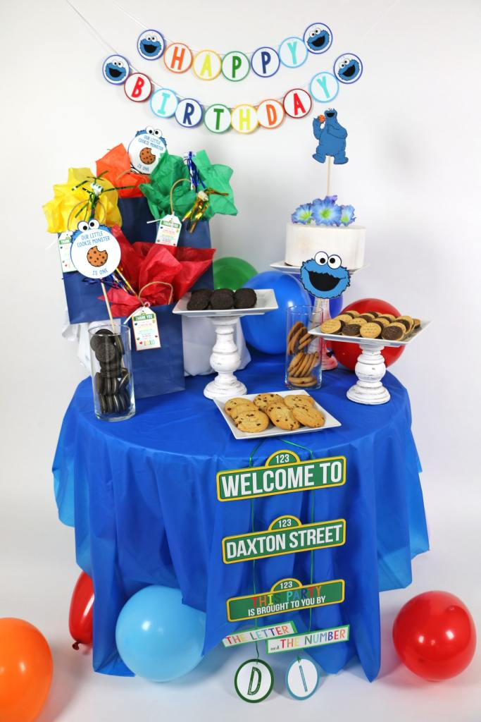 Cookie Monster Party Decor