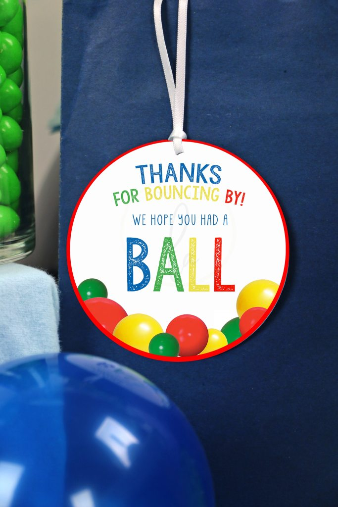 Let's Have A Ball Party Decorations Party Favor Tag